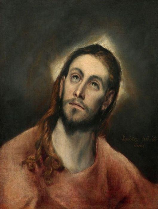EL GRECO Portretul lui Hristos 1