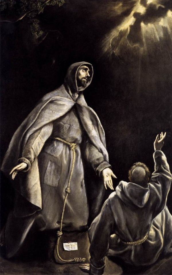 EL GRECO Sf. Francisc în extaz  2