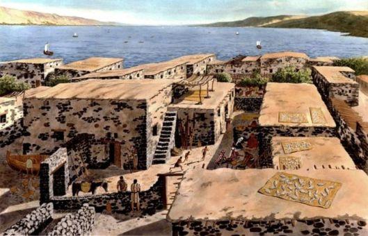 sat de pescari reconstituit